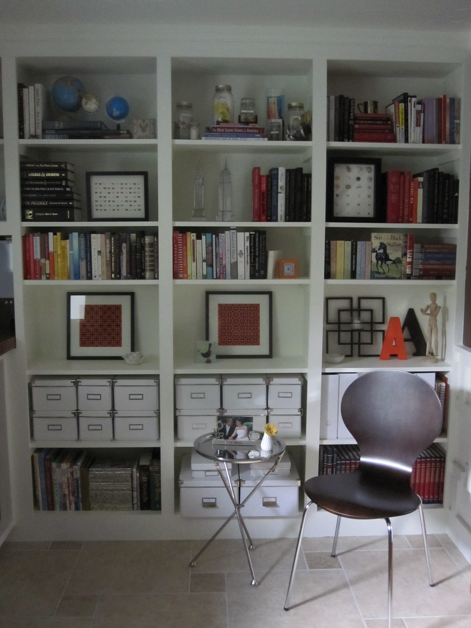 Wonderful image of How To: Artfully Arrange a Bookshelf Our Humble Abode with #61463E color and 1944x2592 pixels