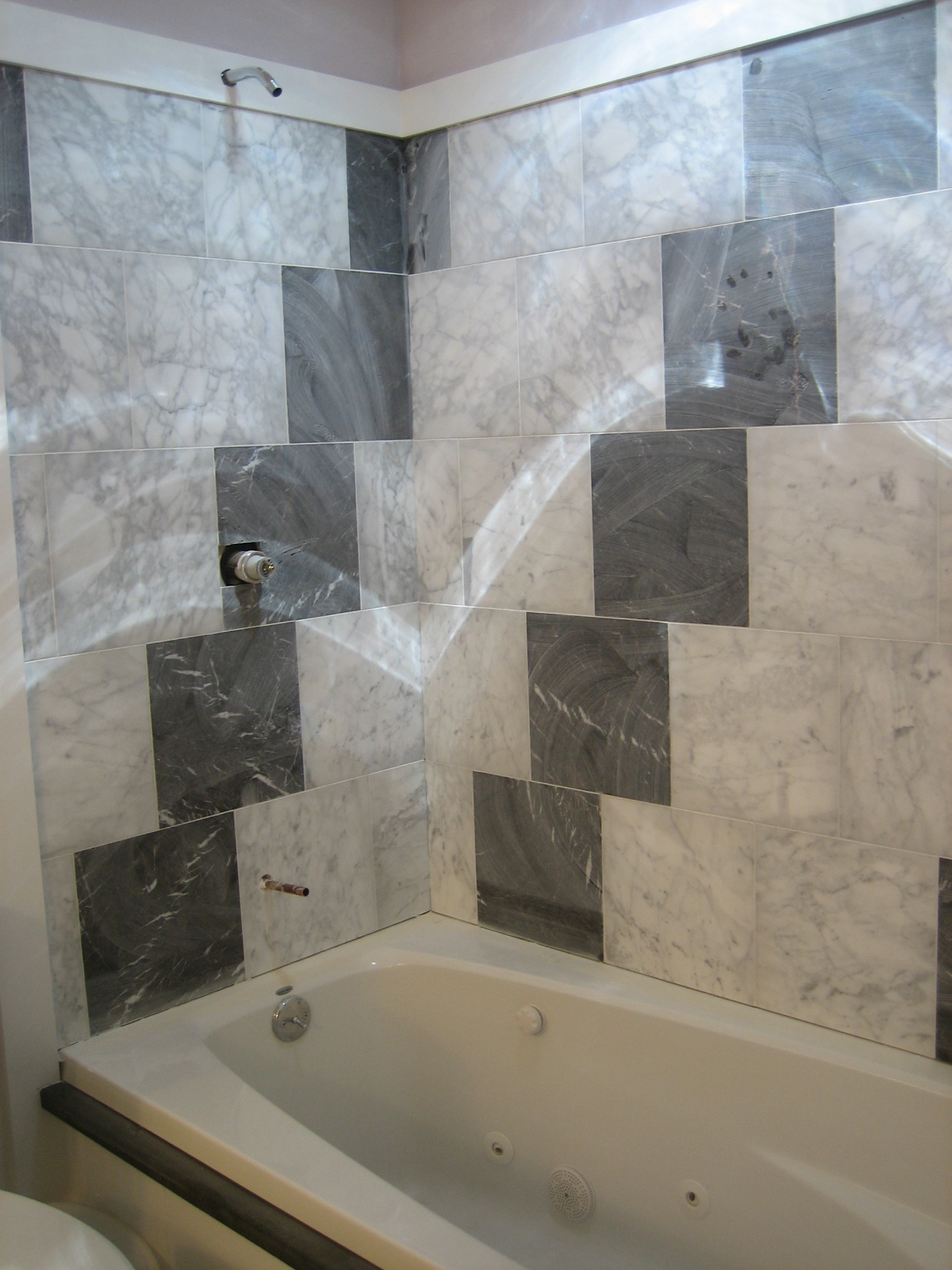 Tiled Tub Shower Combo