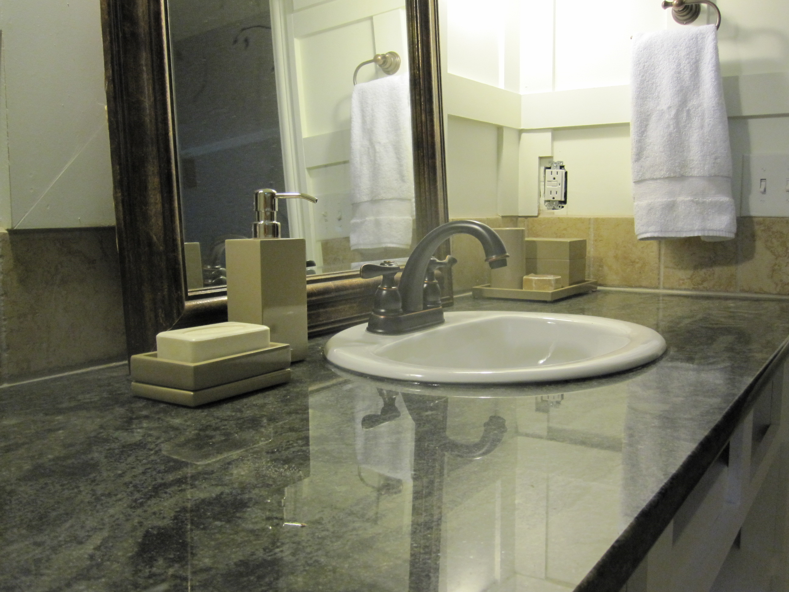 Granite our humble abode for Bathroom ideas with quartz