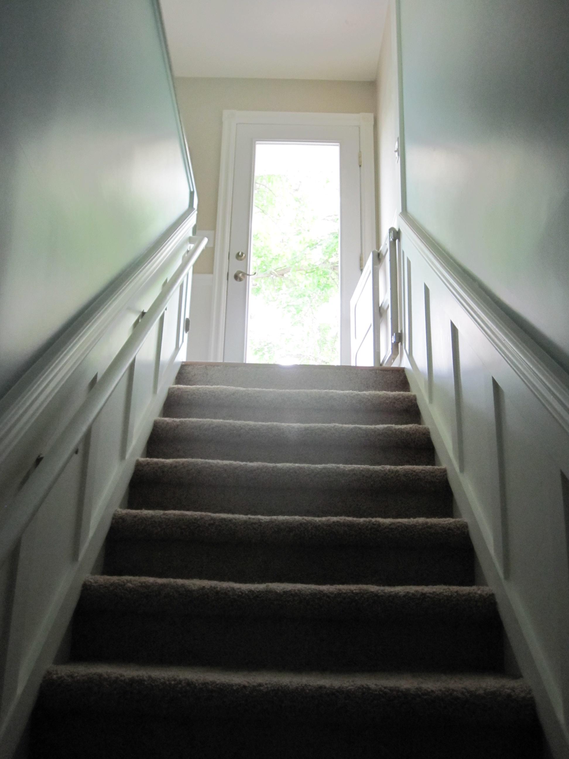 Lighting Basement Washroom Stairs: Lighten And Brighten Up