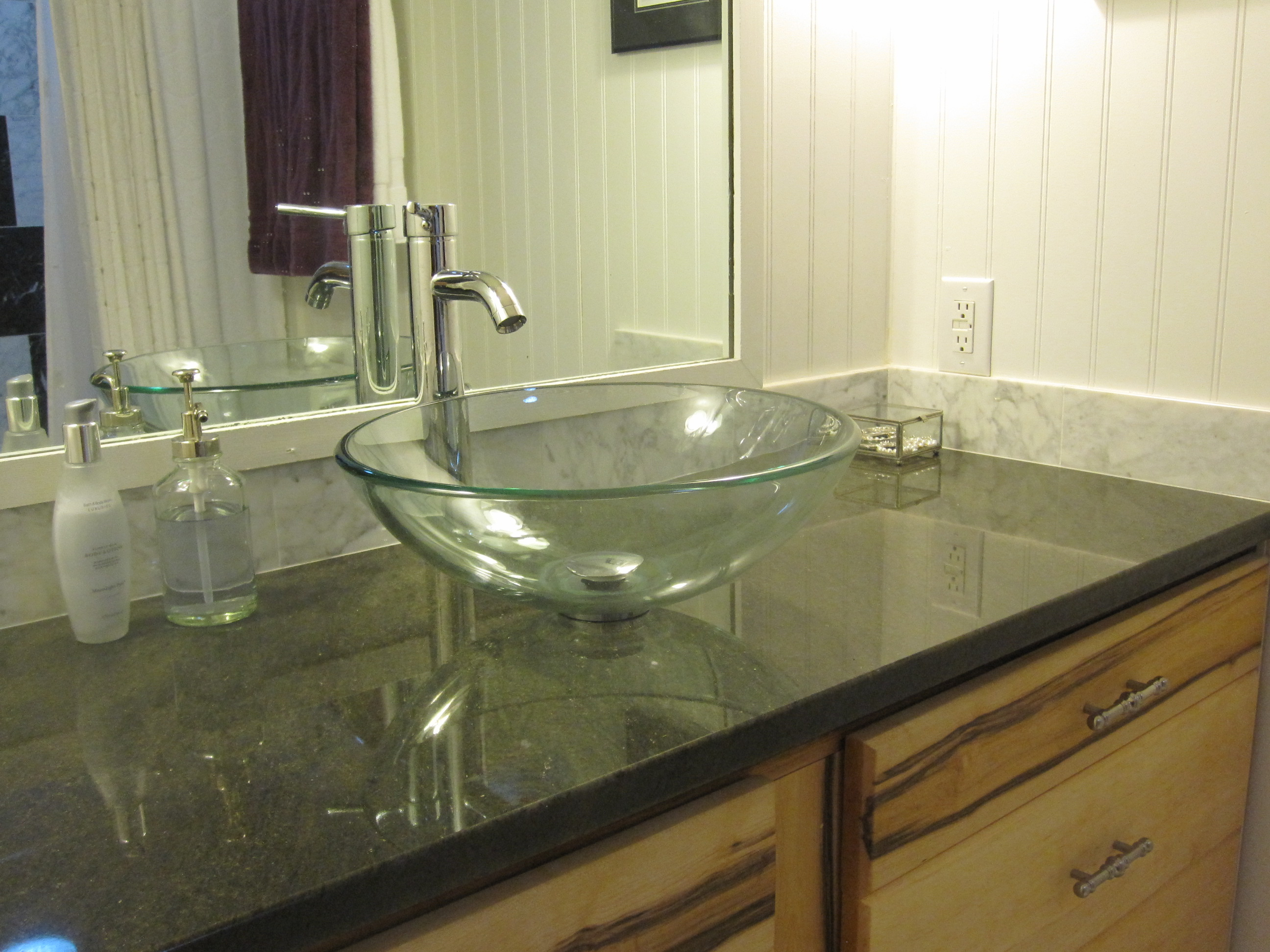 Granite - Black marble bathroom countertops ...