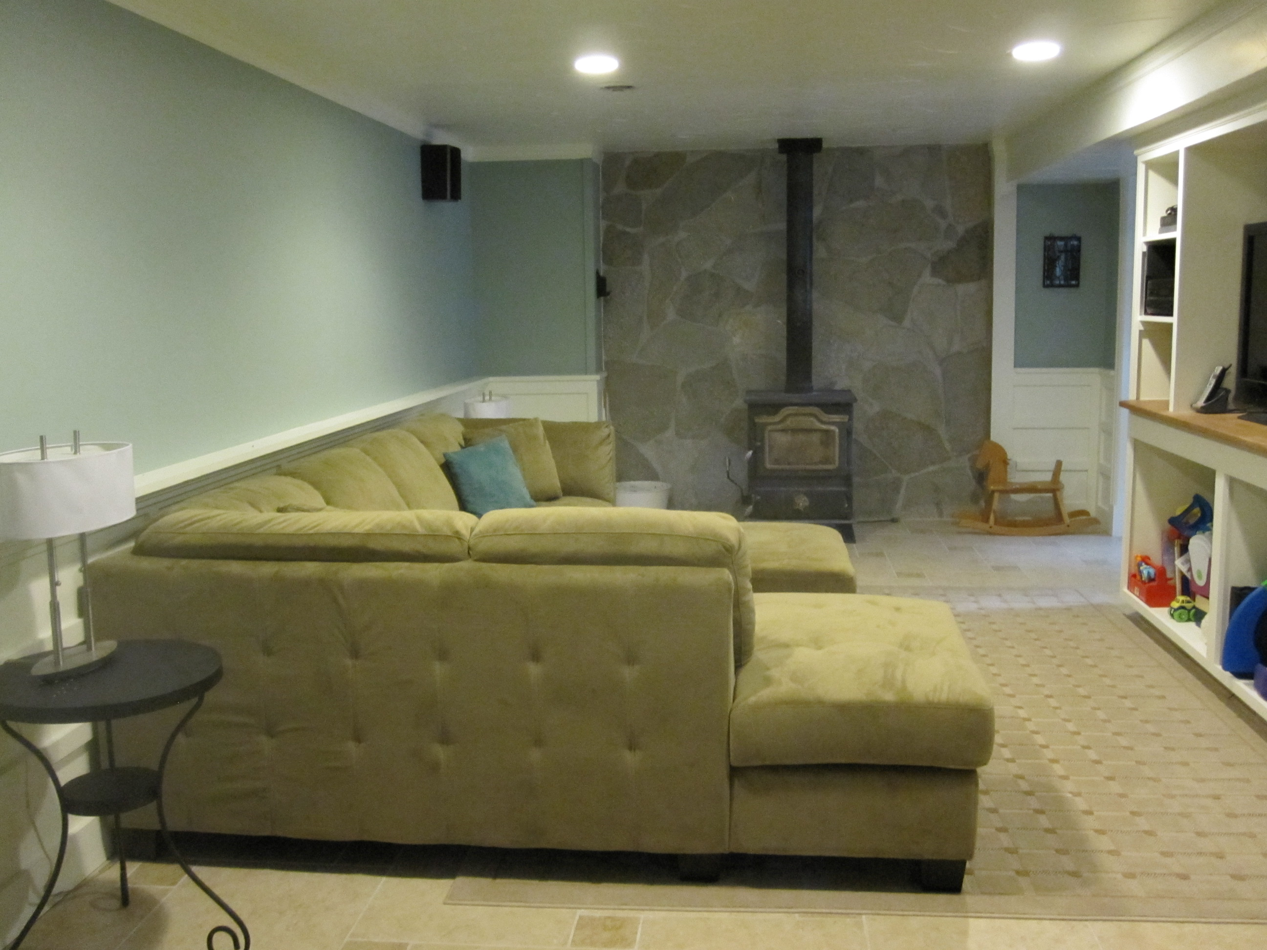 Basement Progress: Man Cave | Our Humble Abode