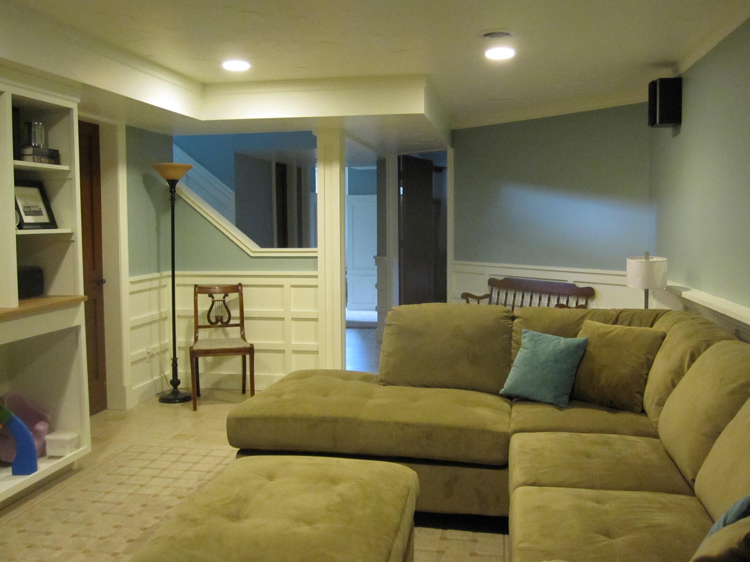 Basement Living Room Stair Side