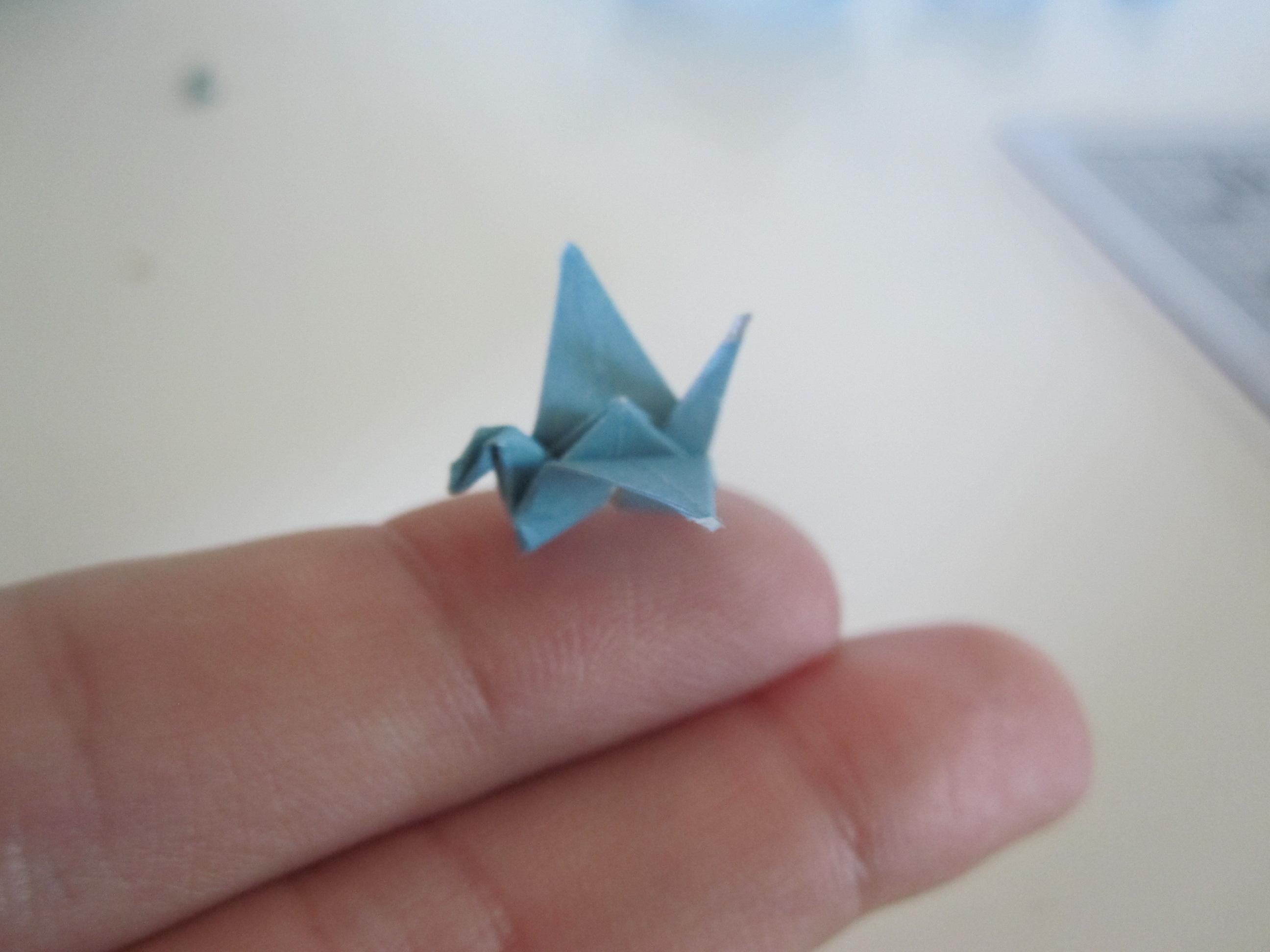 One Sheet Origami Crane