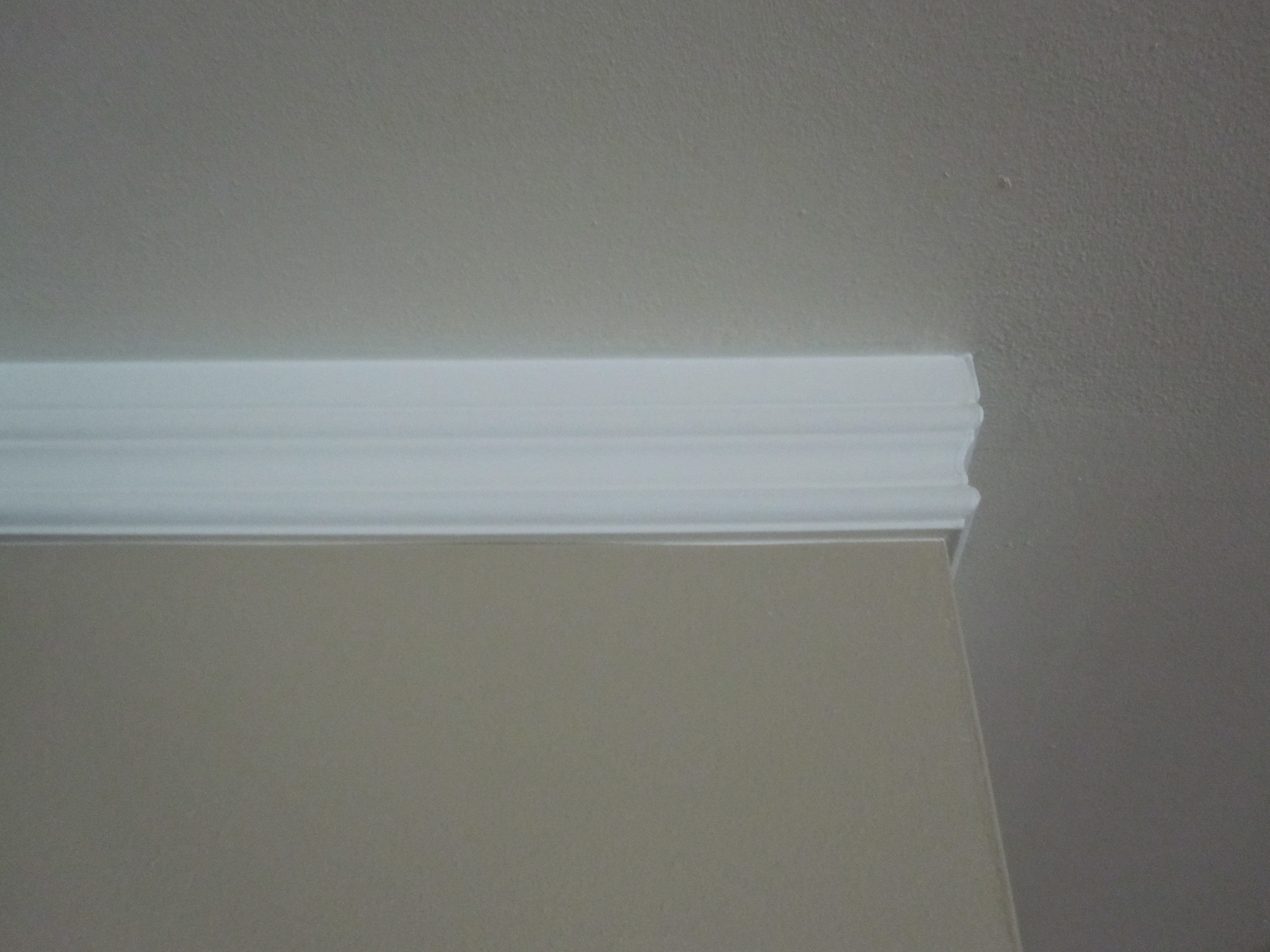 This. Simple Solution  Crown Moulding