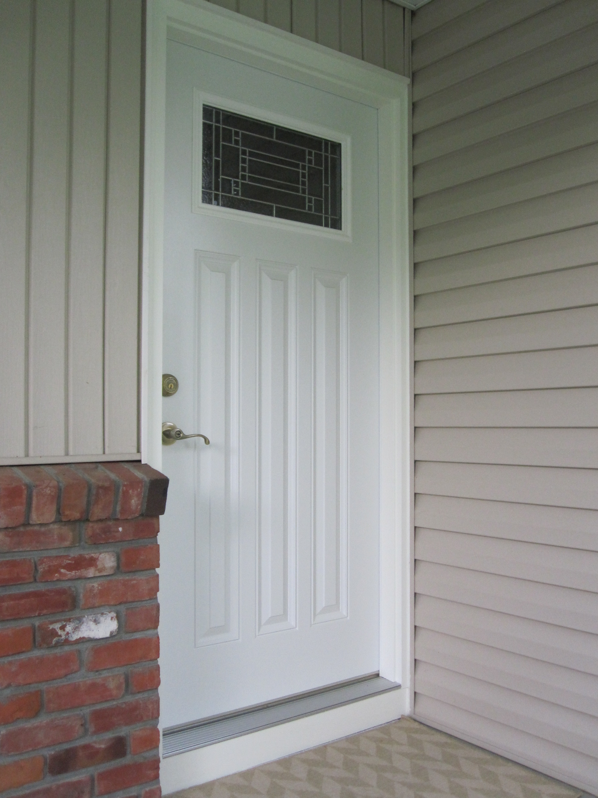 Front Door Trim After