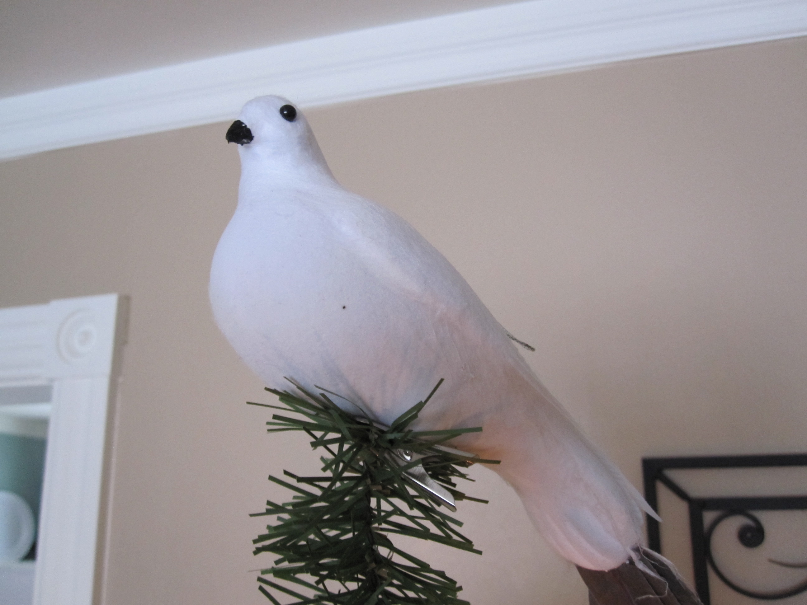 how to make white paper doves