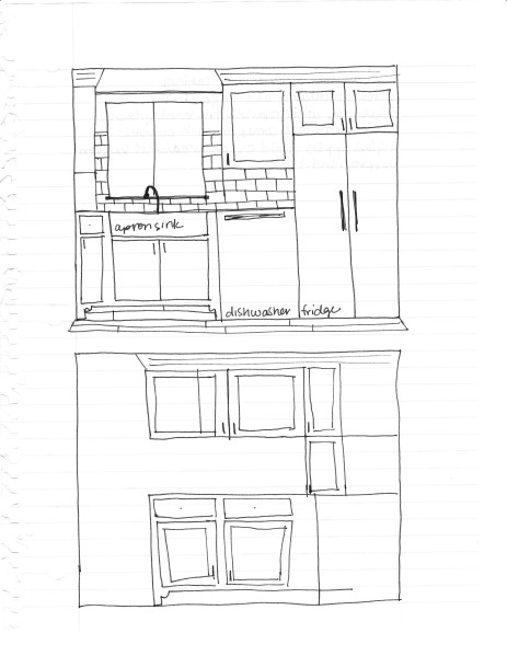 new kitchen drawings and plans