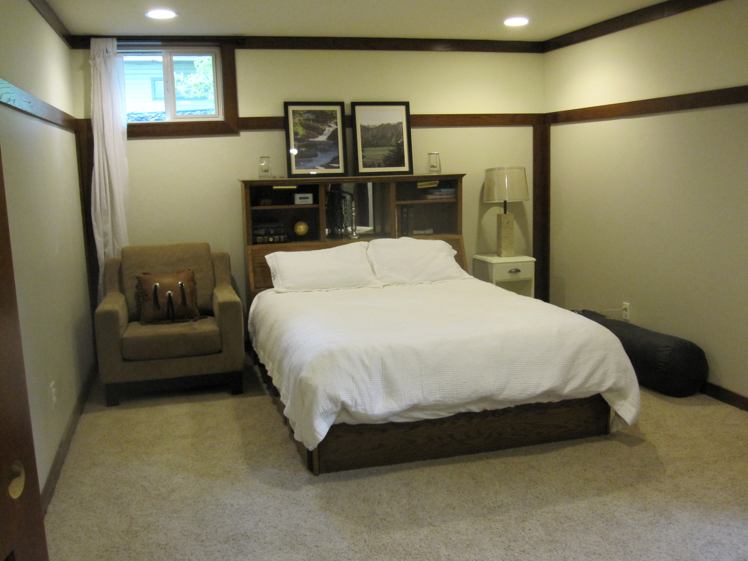 Basement Progress: Large Bedroom