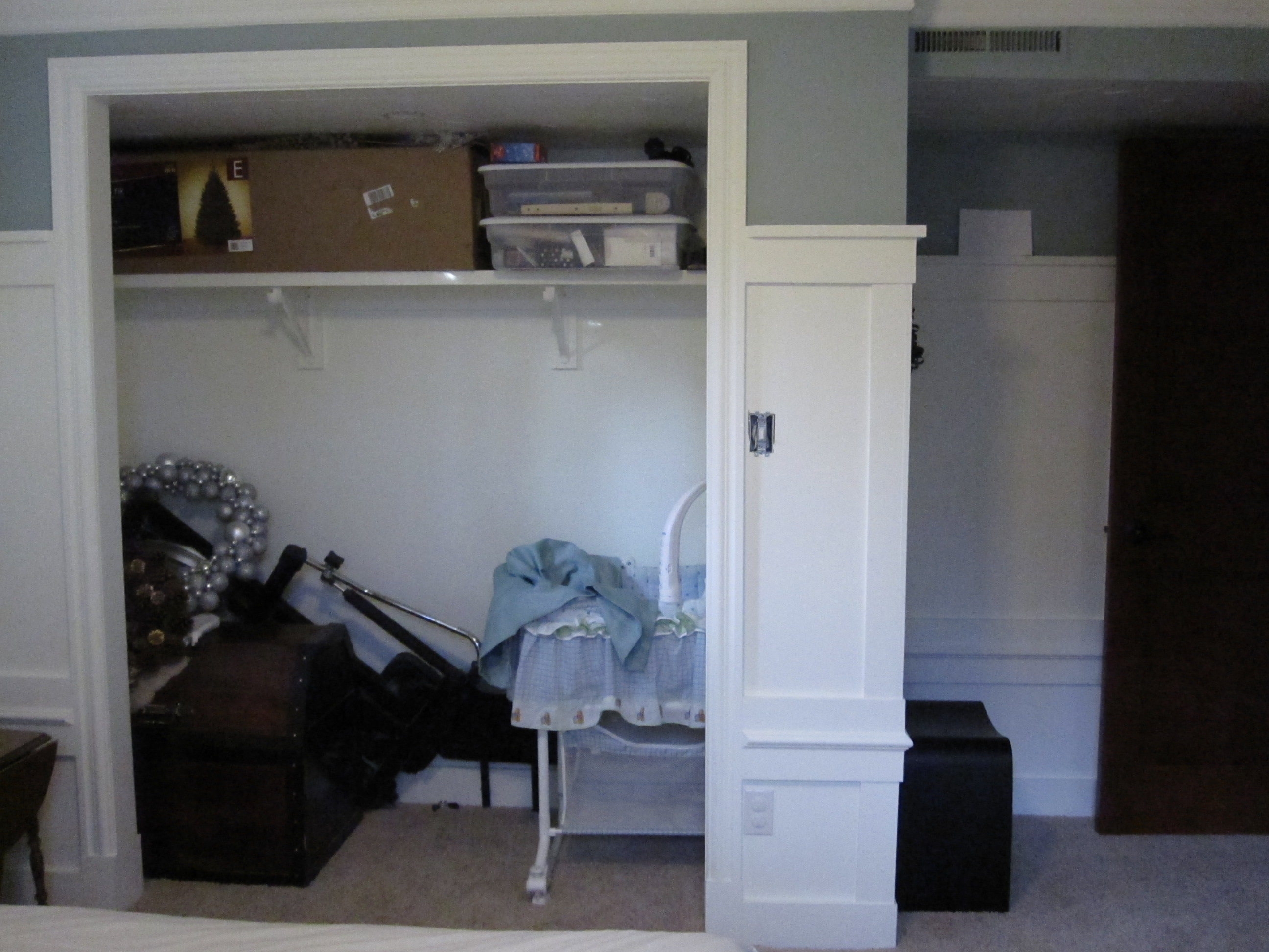 Basement progress small bedroom - Closet for small room ...
