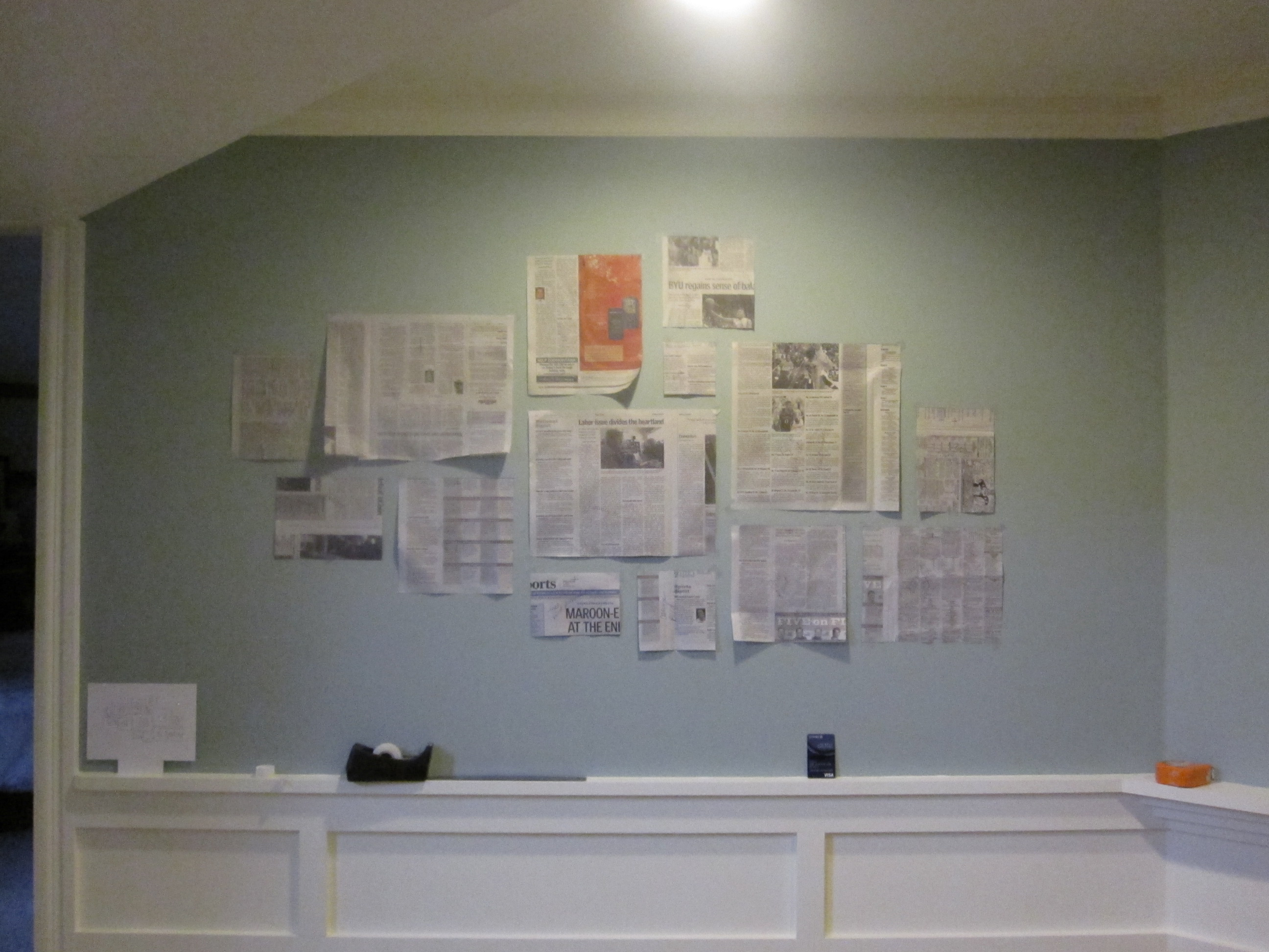Empty Picture-Frame Wall Grouping : Rooms : Home & Garden ...