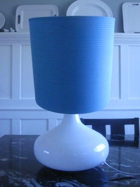 White Glass Lamp Before