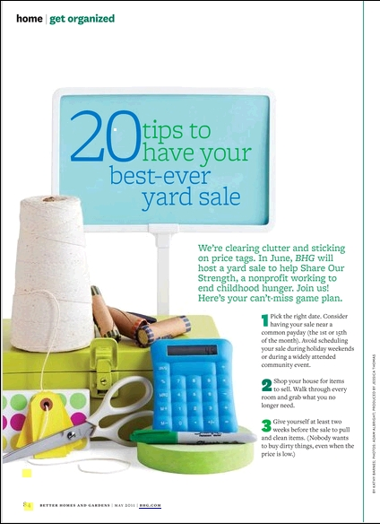 BHG May 2011 Yard Sale 1