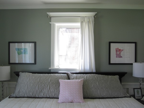 Poppy and Pinecone Art Above Bed
