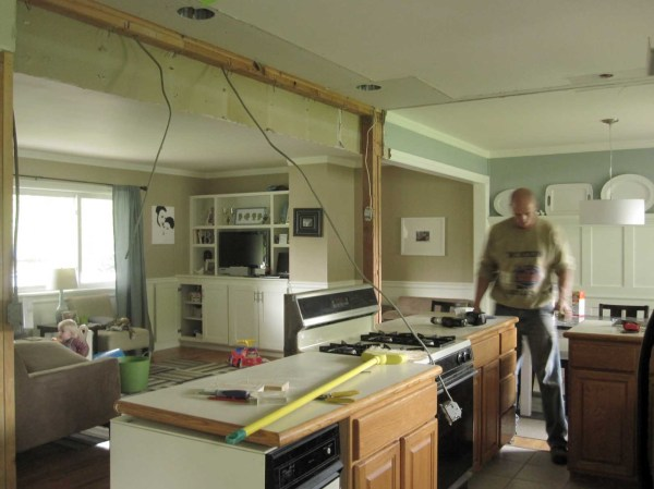 And the walls come tumblin down for Kitchen back door