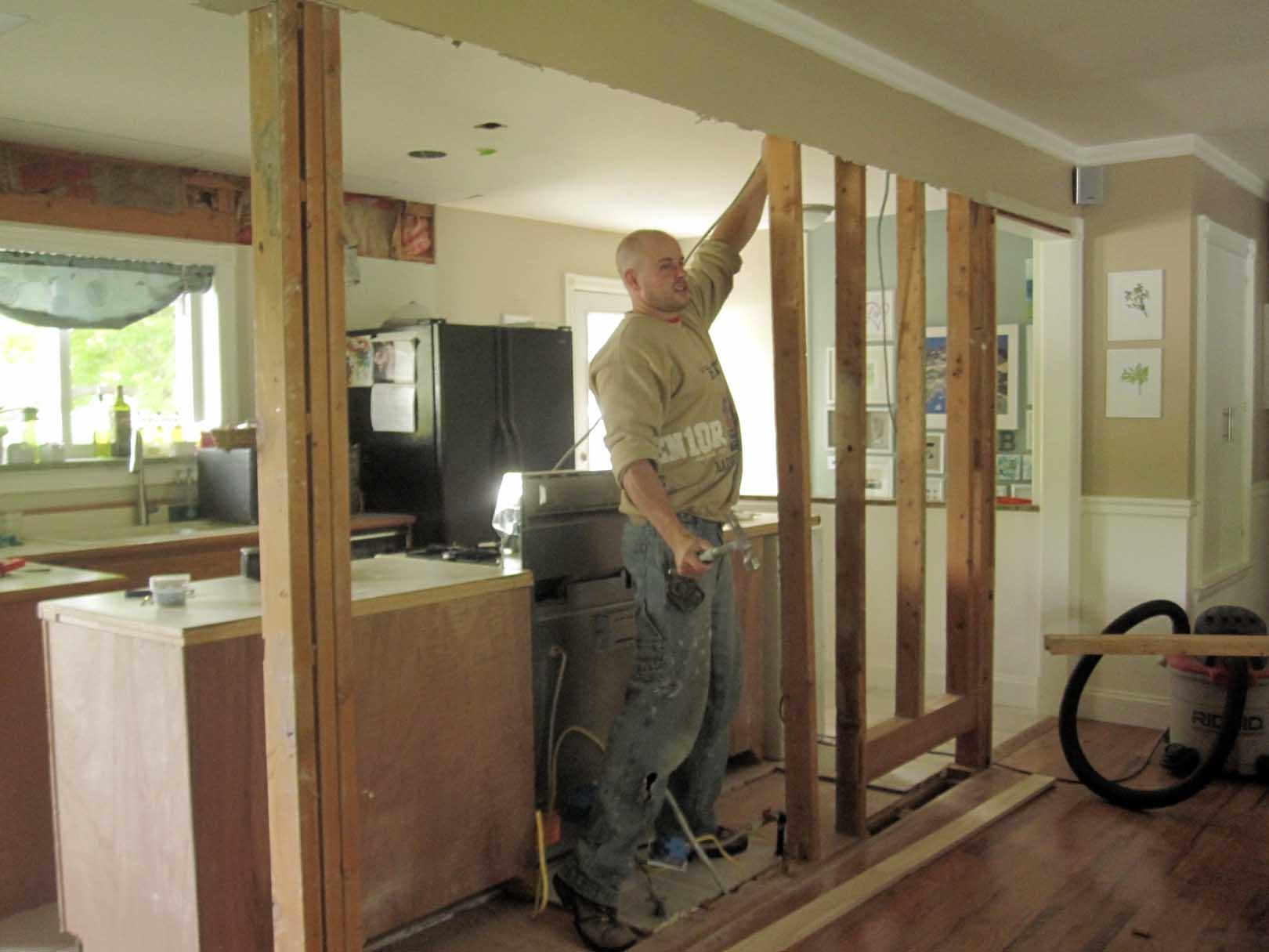 Kitchen Wall Removing Studs