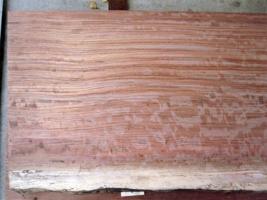 Bubinga Slab Left End
