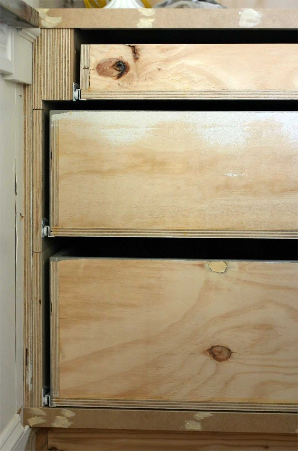 Kitchen Cabinet Face Frame Dining Side Drawer Stack Our Humble Abode