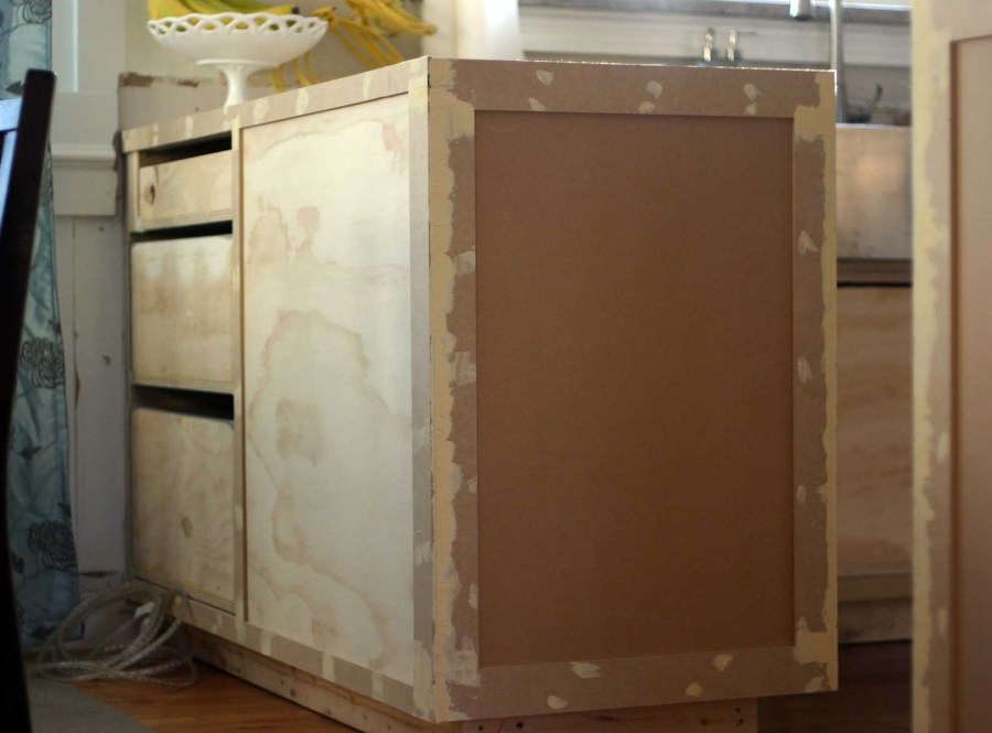kitchen cabinet frame end panel our humble abode