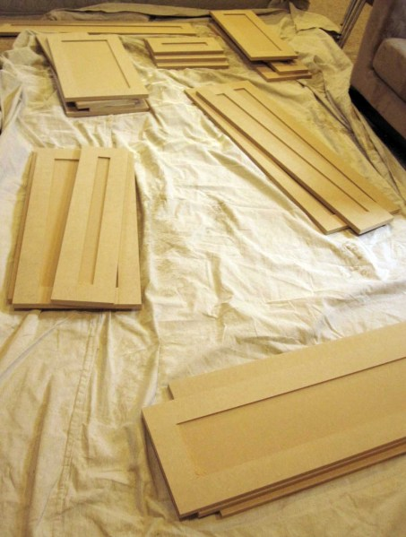 On the drawer front for Ready made kitchen drawers