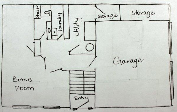 floor plan our humble abode. Black Bedroom Furniture Sets. Home Design Ideas