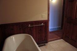 Main Bathroom Tub and Door Before