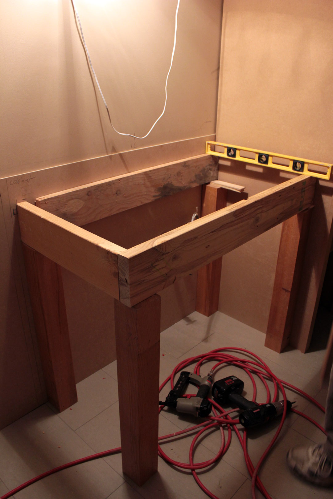 Open Shelf Vanity Plans PDF Woodworking