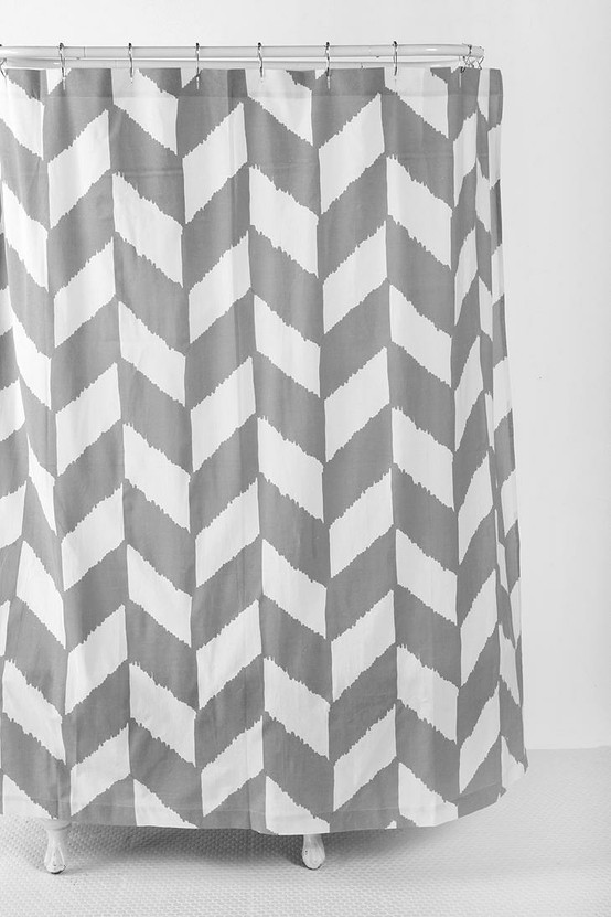 herringbone shower curtain from urban outfitters our humble abode. Black Bedroom Furniture Sets. Home Design Ideas