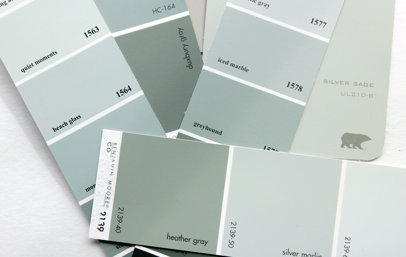 Blue Gray Paint Swatches