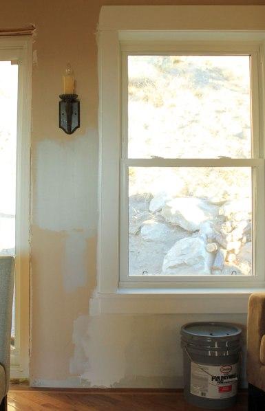 25% Wood Smoke Test Paint by Window