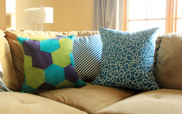 Blue and Green Winter Pillows