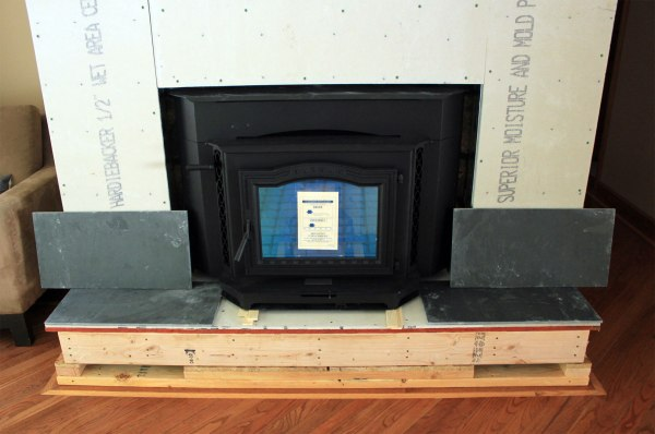 Fireplace Build Out Slate Tile
