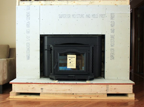 Fireplace Build Out with Cement Board Detail