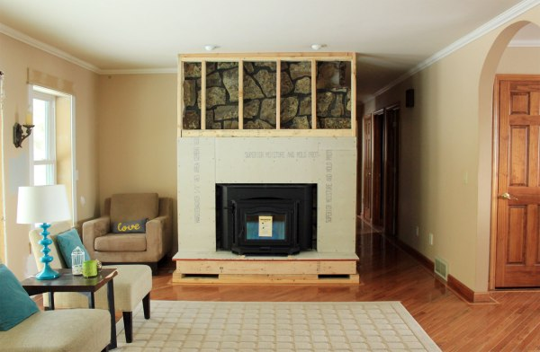 Fireplace Build Out with Concrete Board