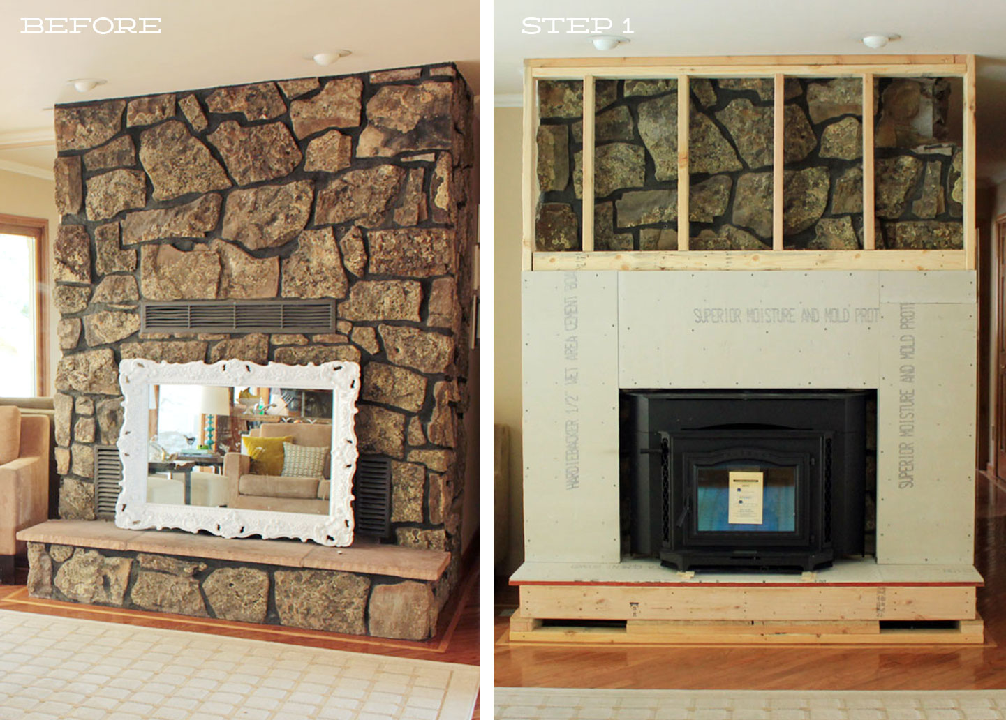 Fireplace Cover Up Side By Side