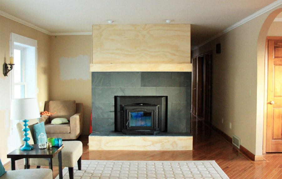 Fireplace Cover Up With Slate Overall Our Humble Abode