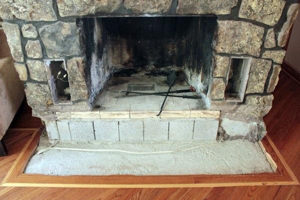 Fireplace Rock Removal Base