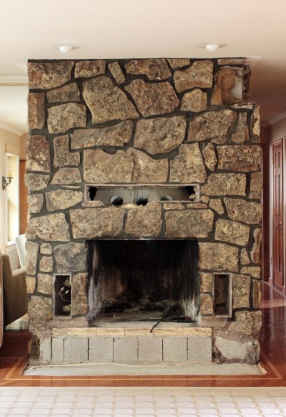 Fireplace Rock Removal Overall