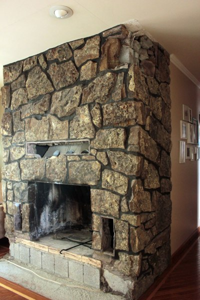Fireplace Rock Removal To Hall