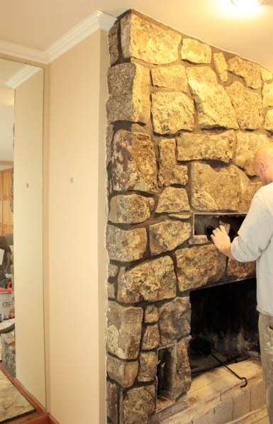 Fireplace Rock Removal Vents