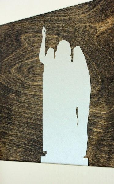 Art On Mantel Silhouette Detail