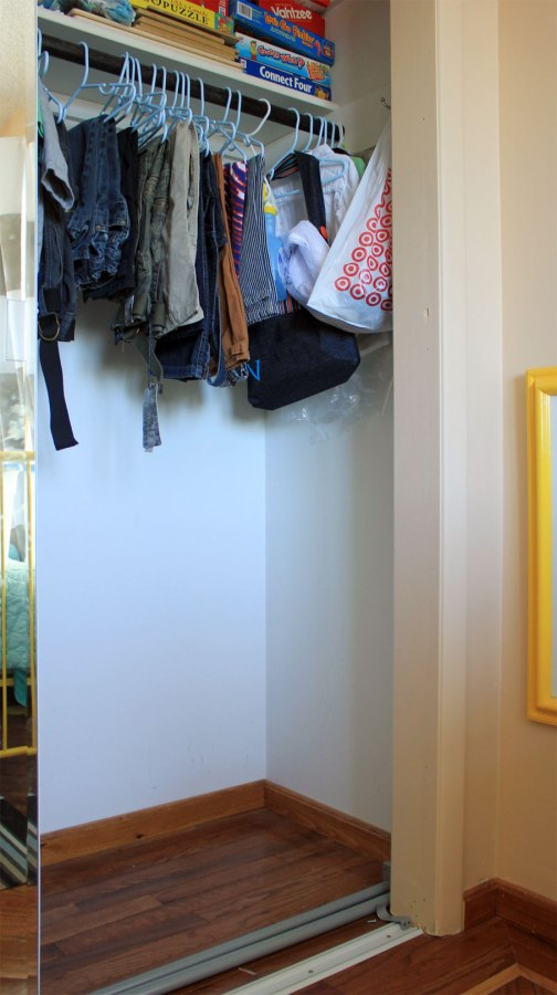 Boys Closet Before Double Rod Right Side