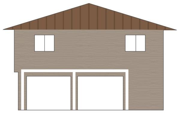 Exterior-Garage-with-Coloring-Natural-Cedar