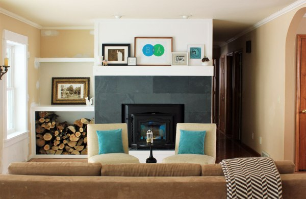 Family Room with Art on Mantel
