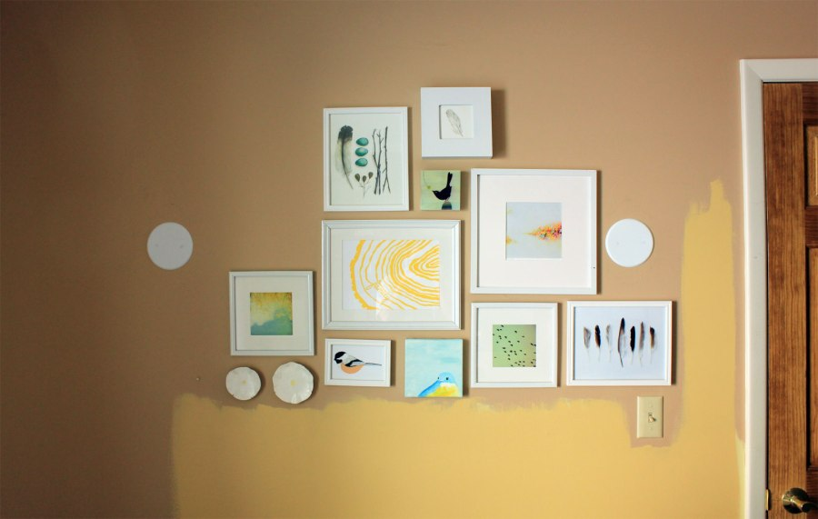 Guest Room Without Sconces Gallery Wall