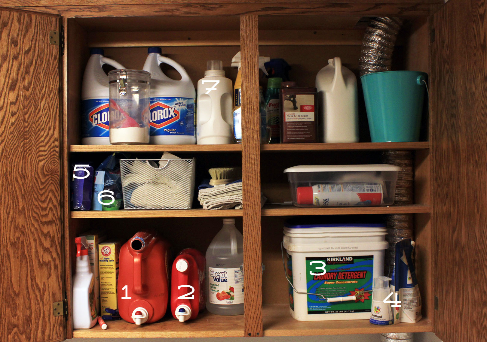 Laundry Organization Cleaning Cabinet Laundry Detergents