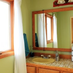 Master Bathroom Painted Green