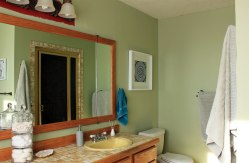 Master Bathroom Painted Green