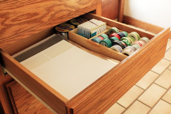 Office Organization Middle Drawer