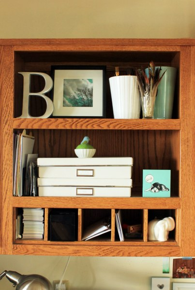 Office Organization Open Shelf